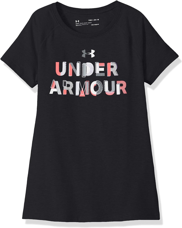 Under Armour Girls Asymmetric Branded Short Sleeve Shirt