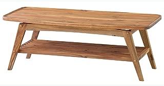 Azumaya Japan AZUMAYA Tray Edge Top Natural Acasia Wood Coffee Table NET-615 Under Rack Storage KD Furniture