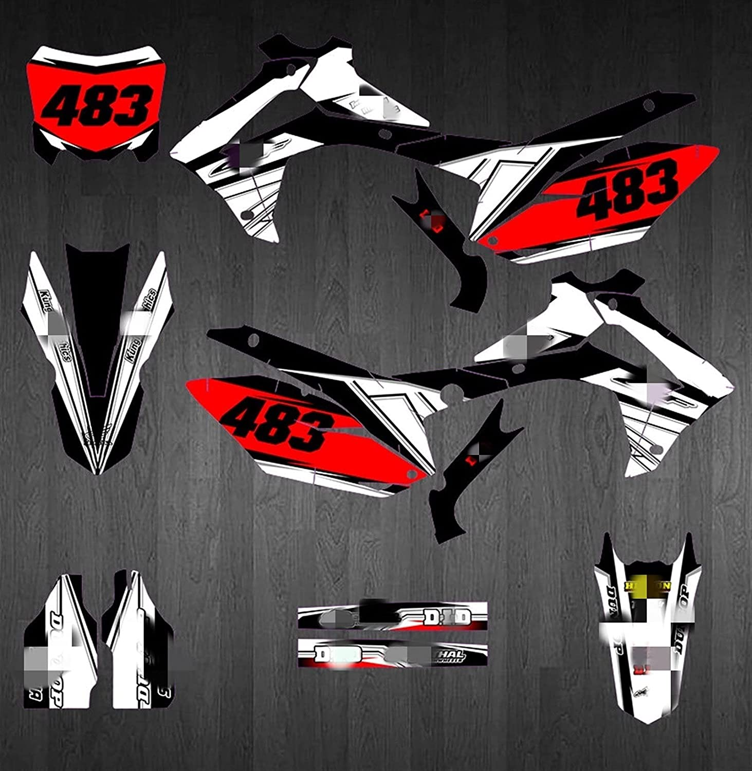 2021 Kansas City Mall new CSMDELAY CH0331A10 Customized 3M Decals Grap Motorcycle Stickers