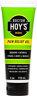 DOCTOR HOY'S Natural Pain Relief Gel, Water Based with Arnica a Natural Anti-Inflammatory, Includes 5% Camphor & 5% Mentho...