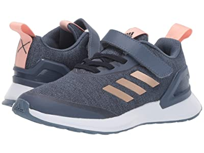 adidas Kids RapidaRun X EL (Little Kid) (Ink/Copper) Girls Shoes