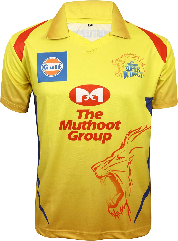 KD Cricket New Free Shipping IPL Jersey Supporter Omaha Mall 2020 T-Shirt MI 21 CSK