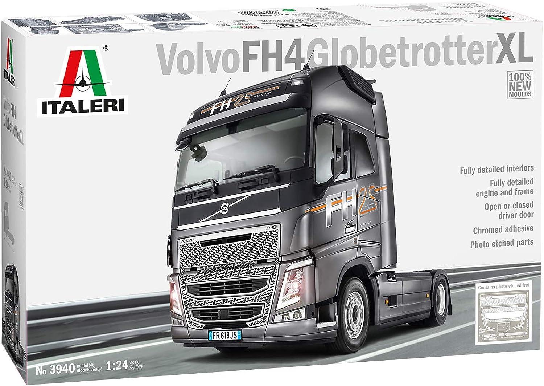 ITALERI 3940S - 1 24 Volvo FH4 Globetrotter XL , Modellbau, Bausatz, Standmodellbau, Basteln, Hobby, Kleben, Plastikbausatz, detailgetreu