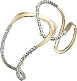 Crystal Encrusted Freeform Cuff Bracelet