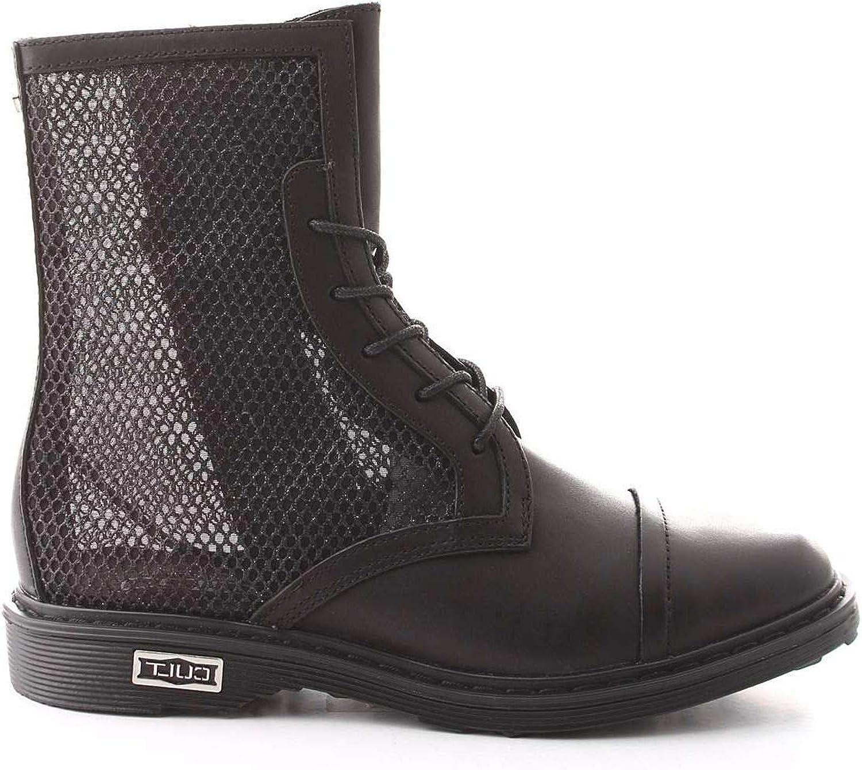 KULT Kvinnors CLEE104036svart svart läder Ankle stövlar stövlar stövlar  fashional butik till salu