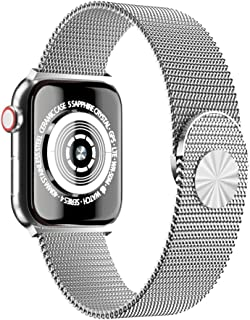 Cocos Compatible with Apple Watch Band 38mm 40mm 42mm 44mm,Stainless Steel Mesh Loop Replacement Parts for iWatch Band Series 4 3 2 1