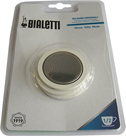 Bialetti - Venus 1/2 Cup 3 Gaskets and Filter Plate for stainless steel coffee pots