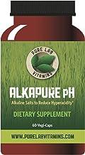 Pure Lab Vitamins Alkapure pH - 60 Vegi Caps Calcium Free, Sodium : Potassium Balanced Alkaline Salts to Improve Body pH.
