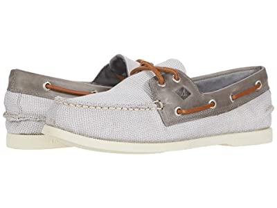 Sperry A/O 2-Eye Gingham (Grey/Grey) Men
