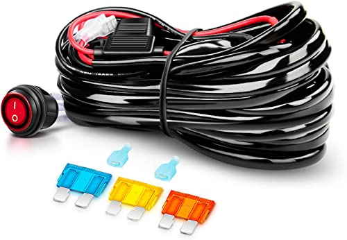 popular Nilight Off discount Road ATV/Jeep LED Light Bar Wiring online sale Harness Kit 40 Amp Relay On/off Switch Included online sale