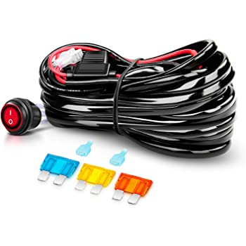 Amazon.com: Nilight Off Road ATV/Jeep LED Light Bar Wiring Harness Kit 40  Amp Relay On/off Switch Included: AutomotiveAmazon.com