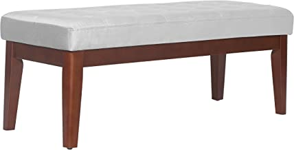 Elle Decor Claire Bench Tufted, Pearl