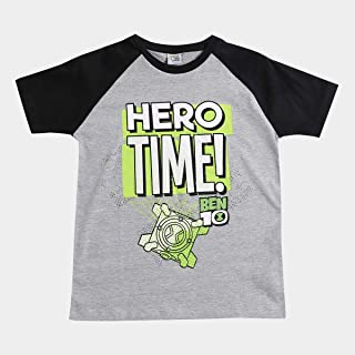 Camiseta Infantil Fakini Estampa Ben 10 Masculina