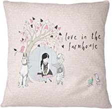 Timingila White Canvas Cushion Cover Tree Swing, Couple and Text Living Room Sofa Cushion Cover Printed Home Decor Pillow ...