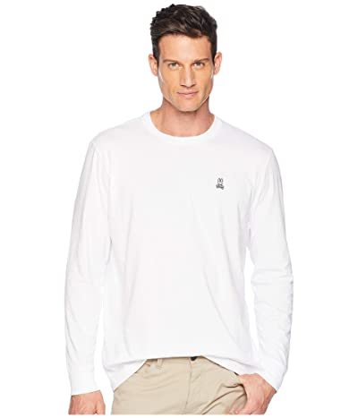 Psycho Bunny Crew Neck Long Sleeve T-Shirt (White 2) Men