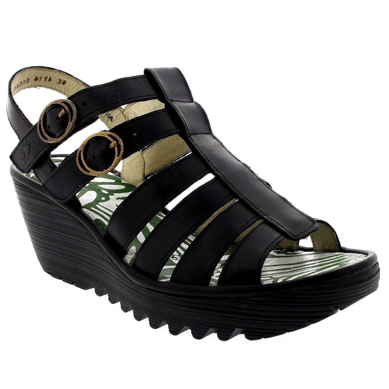 Womens Fly London Ygor Rug Wedge Beach Gladiator Vacation Heeled Sandals ap1208150259905