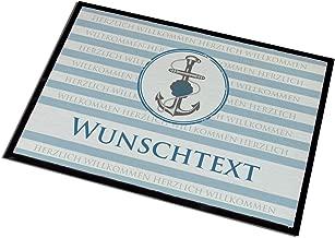 Reklameschild Retro 50 x 70 cm f/ür Au/ßen und Innenbereiche Cera /& Toys Waschbare Fu/ßmatte mit Namen