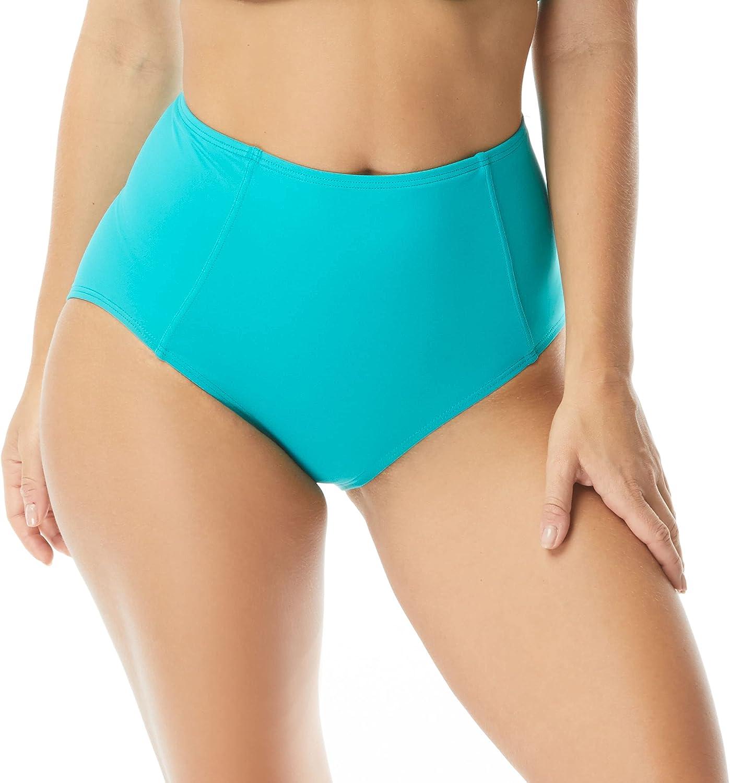Coco Contours High Waist Bikini Bottom — Swimsuit Bottom with Shapemaker Lining — Lift, Tummy Control