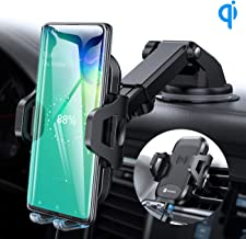 VICSEED 3-in-1 Wireless Car Charger Mount Qi Fast Charging 10W 7.5W Dashboard Windshield Air Vent Phone Holder for Car Mount Fit for iPhone 11 Pro Max XS X XR Samsung Note9 S10 S9 LG Phones etc.