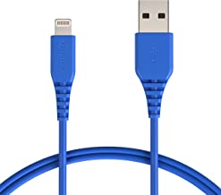AmazonBasics Lightning to USB A Cable, MFi Certified iPhone Charger, Blue, 3 Foot