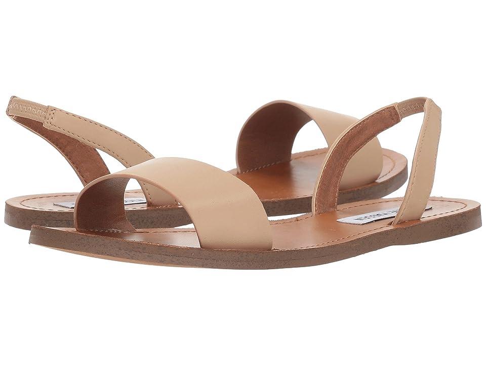 Steve Madden ALINA Slingback Flat Sandal (Natural) Women