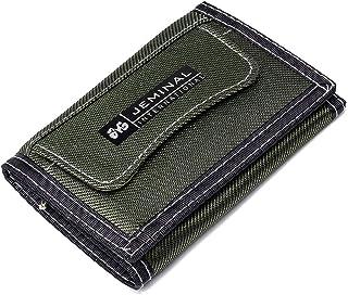 Portafoglio corto per Uomo,OURBAG Portafoglio Bifold Sottilcon Cerniera RFID Tasca Frontale Portafoglio Porta Carte di Cre...