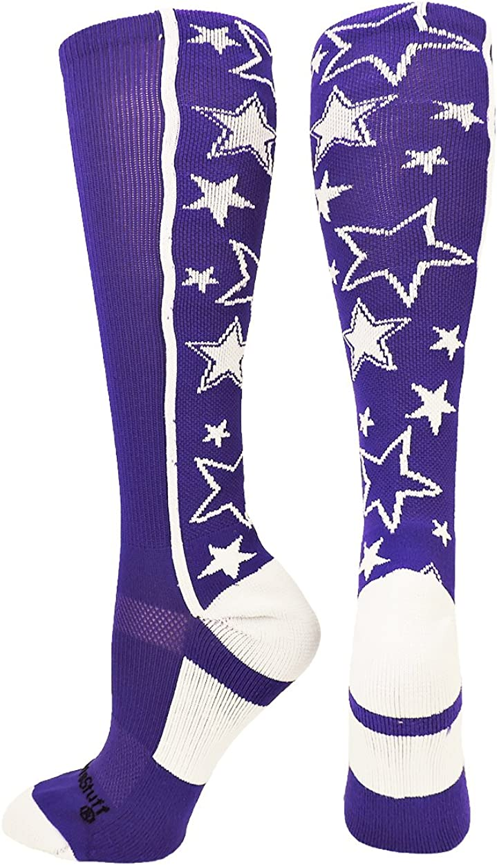 MadSportsStuff Crazy Socks with Bombing free shipping Stars Multi Calf The Max 68% OFF Over