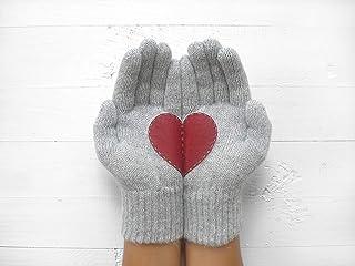 Heart Gloves, Couple Gloves, Heart Gift, Valentine's Day Gift