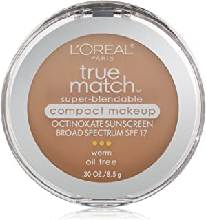 L'Oréal Paris True Match Super-Blendable Compact Makeup, W4 Natural Beige, 0.3 oz.