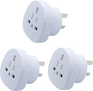 Hasht Daily SAA Certified UK/US/JP/CA to AU/NZ adapter plug, Travel Adapter UK/US Plug Convert to 3-Pin Australian/New Zea...