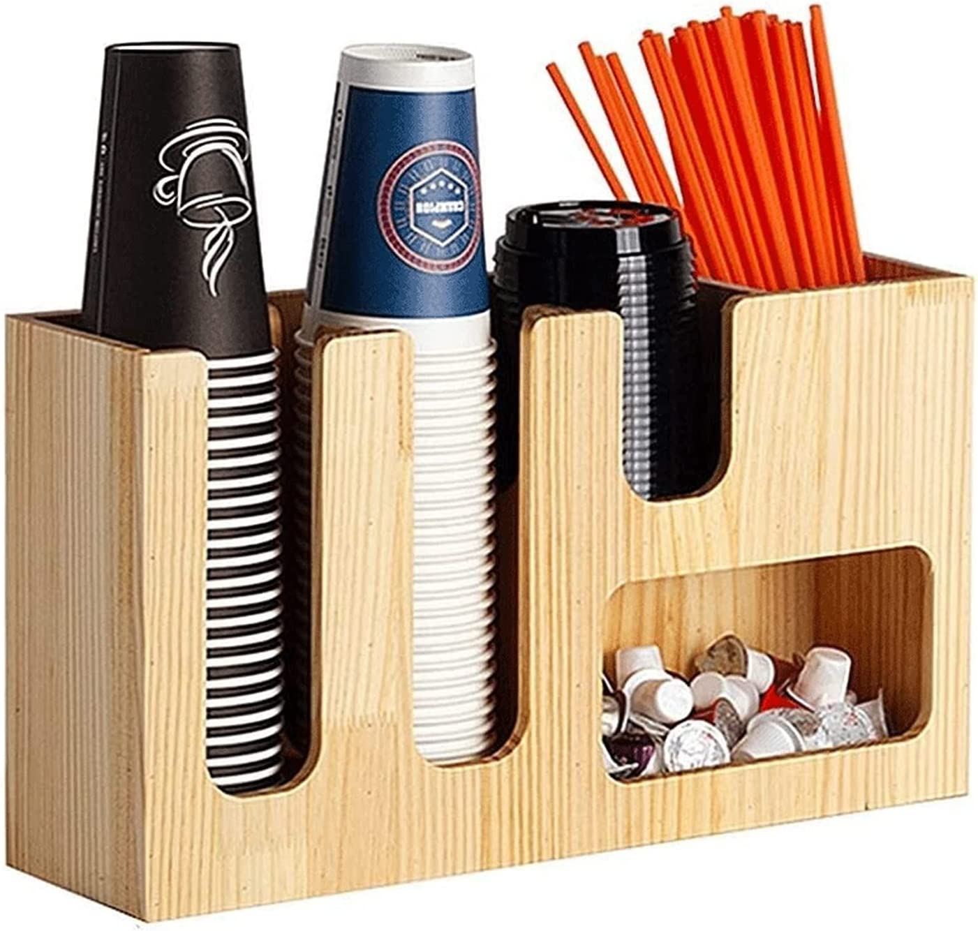 DJDLLZY Cup and Cheap SALE Start Lid Organizer Condiment Breakroom New products world's highest quality popular Coffee