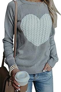 76afce92ad549 Pull Femme Sweat Cadeaux de noël Chaud Hiver Oversize Manches Longues  Tricoté Sweater Tops