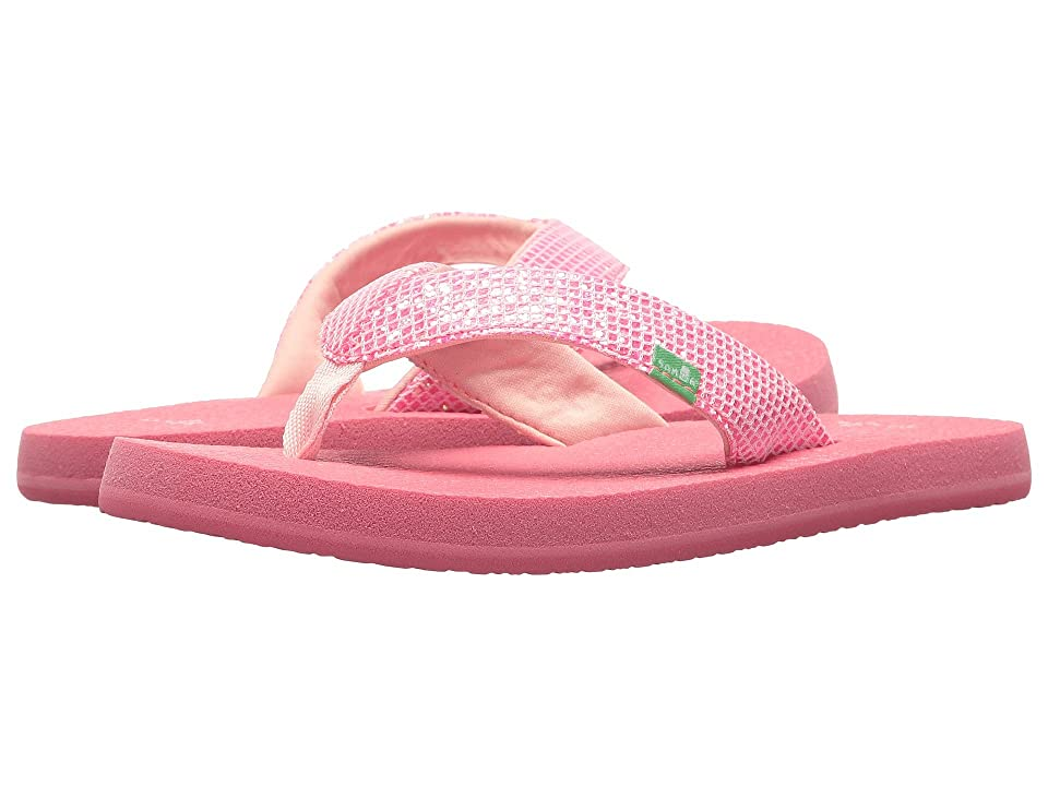 Sanuk Kids Yoga Glitter (Little Kid/Big Kid) (Paradise Pink) Girls Shoes