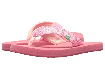 Sanuk Kids Yoga Glitter (Little Kid/Big Kid) (Paradise Pink) Girls Shoes