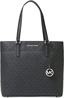 MICHAEL Michael Kors Morgan Large Leather Tote Signature Black