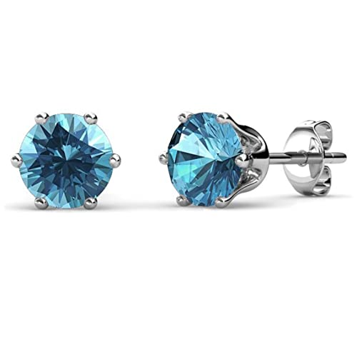 0ff6659eb Private Twinkle 18ct White Gold Plated Birthstone stud earrings embellished  with SWAROVSKI crystal for Women (