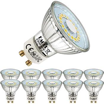 50w Halogène Blanc Froid 120 Pack De 10 Ampoules Led Gu10 5w Eq