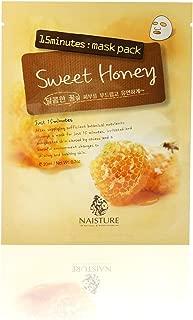 Naisture 15 Min. Collagen Essence Facial Mask Sheet Pack - Sweet Honey 10pk (e 23ml)