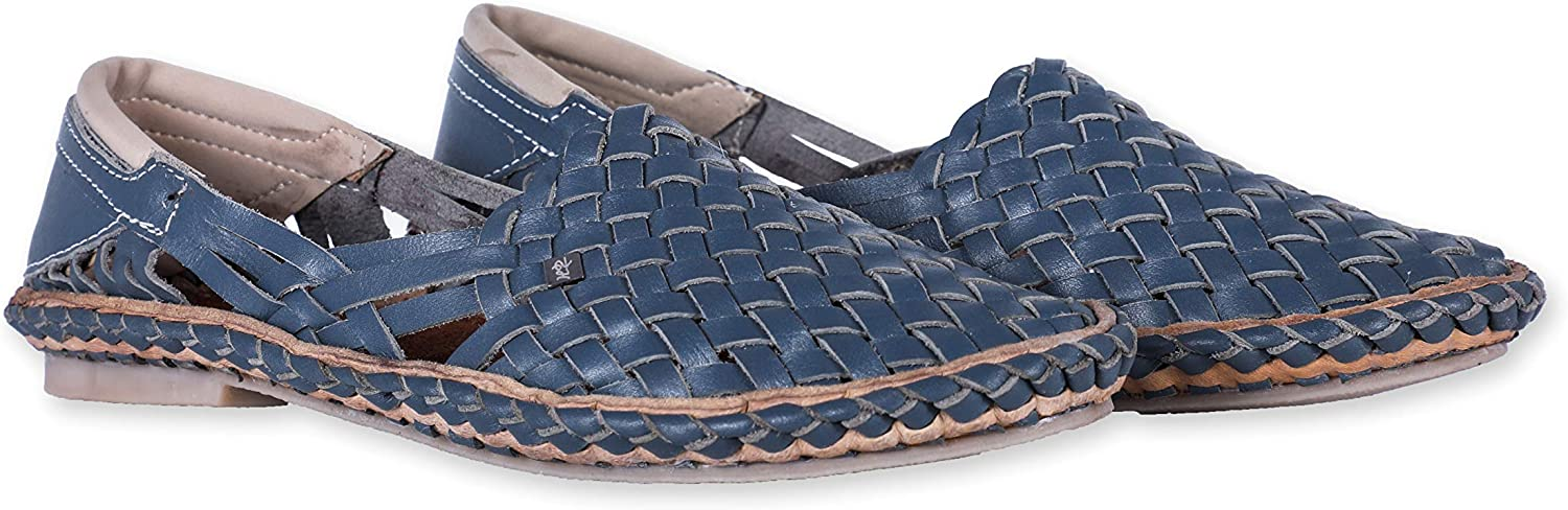 Desi Hangover Womens Pure Leather Handmade shoes Hola bluee, Free Express Shipping