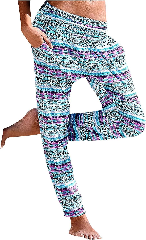 Leirke Women Comfy Elegant Stretch Floral Print New Orleans Mall Summe Pants Boho Ranking TOP16