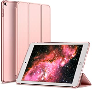 Kenke iPad Case Mini 1/2/3 Generation Slim Lightweight Smart iPad Cover 7.9 Inch,Transparent Hard Shell with Auto Sleep Wake for iPad Mini 1, Mini 2, Mini 3 (Rose Gold)