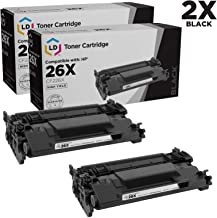 LD Compatible Toner Cartridge Replacements for HP 26X CF226X High Yield (Black, 2-Pack)