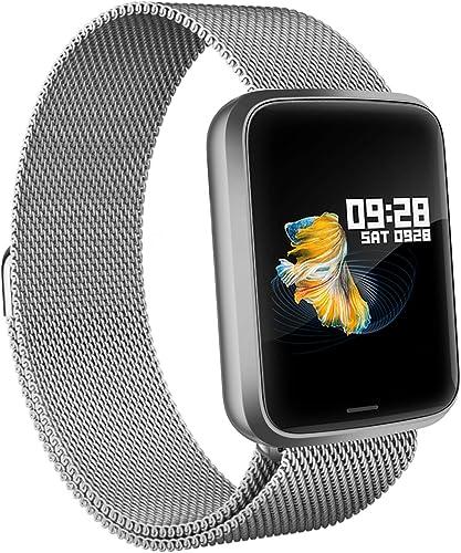 Lintelek Montre Connectée Intelligente, Pression Artérielle Cardio Fréquence Smartwatch Bracelet Connecté Ecran Coule...