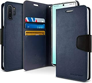 Samsung Galaxy Note 10 Plus Leather Cover Protection Wallet with Pockets Stand Case, Blue