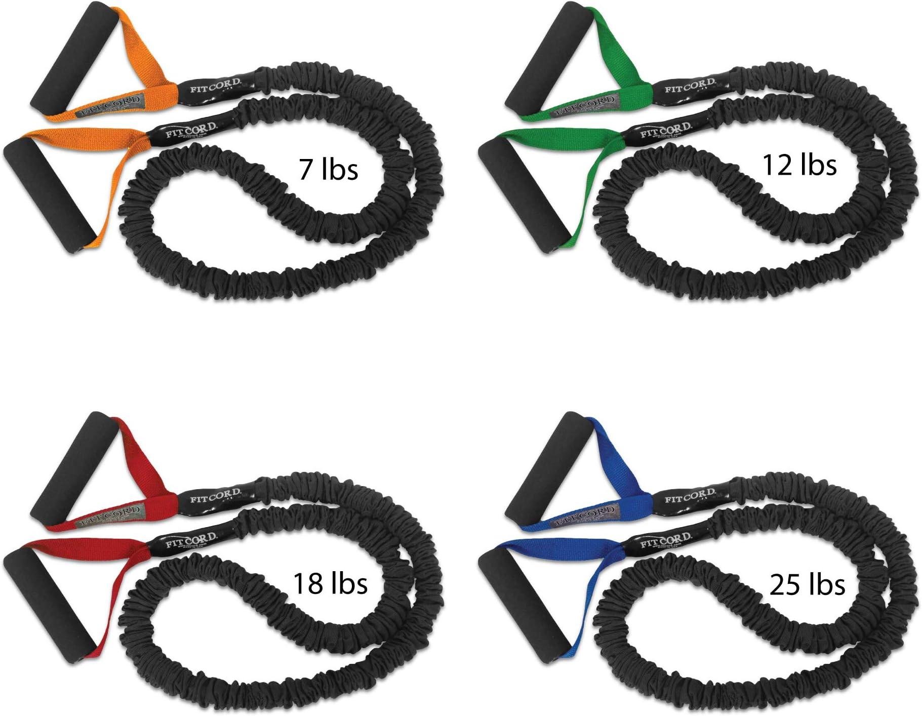 Nylon sleeve resistance tubing with handles for strengthening pilates yoga