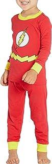 Justice League superhéroe Flash infantil traje de algodón Pajama Set, Rojo, 12MO