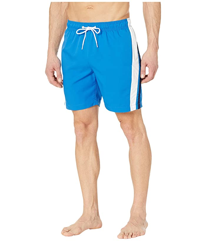 Vintage Men's Swimsuits – 1930s to 1970s History Speedo Redondo Sport Volley 18 Blue Lemonade Mens Swimwear $44.00 AT vintagedancer.com