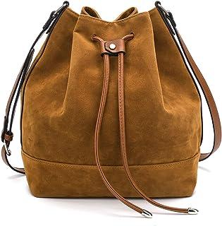 Drawstring Bucket Bag for Women Large Crossbody Purse and Shoulder Bag Suede  Tote Handbags cc54b77d82b54