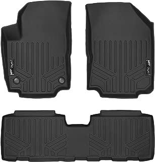 SMARTLINER Custom Fit Floor Mats 2 Row Liner Set Black for 2017-2019 Ford Fusion//Lincoln MKZ