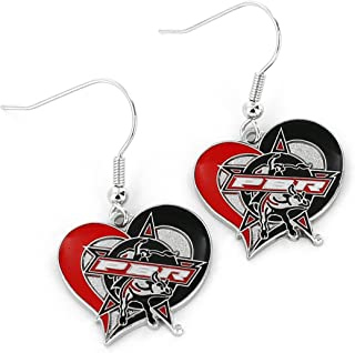Professional Bull Riders Swirl Heart Earrings